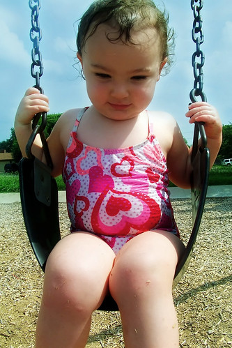 Big girl swing!
