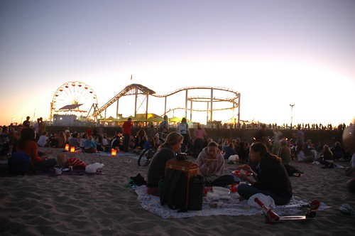 concert at the santa monica pier