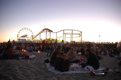 concert at the santa monica pier