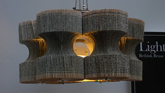 Lucy Norman - book lightshade on Tim's flickr