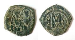 Byzantine bronze coin