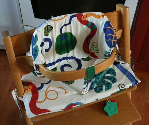 Home-made cushion for the Tripp-Trapp