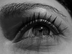 se fosse adesso... (la Tempest) Tags: bw reflection eye blackwhite bn occhio biancoenero riflesso bwemotions bwdreams