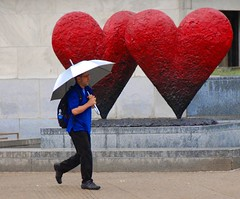 Red Hearts in the Rain - by Bob Jagendorf