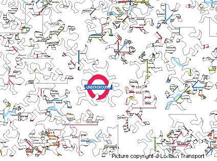 Tube Map Jigsaw Lizard Version