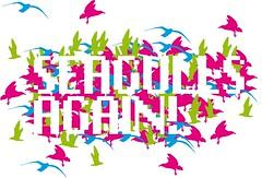 FLOCK OF SEAGULLS (ognavneterjanne) Tags: seagulls art drawing flock typo flockofseagulls mker ognavneterjanne