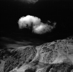 ~ Cloud (Infrared) (schoeband) Tags: cloud mountain 120 6x6 mediumformat switzerland infrared tuoi pentaconsixtl valtuoi engiadina efkeir820