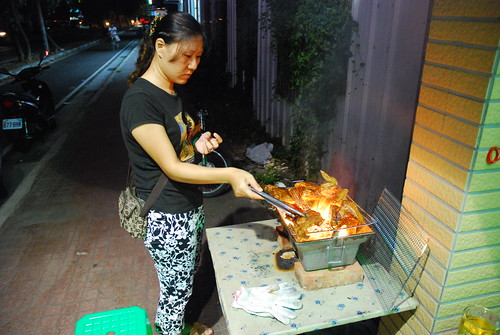 grill party at shao-hui in hukou