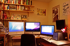 My new office setup (petercooperuk) Tags: apple office mac monitors macs screens offices