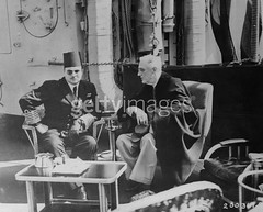 King Farouk and President Roosevelt (Kodak Agfa) Tags: people history vintage 1930s egypt royal farouk 1940s 1950s egyptian mideast royalfamily kingfarouk