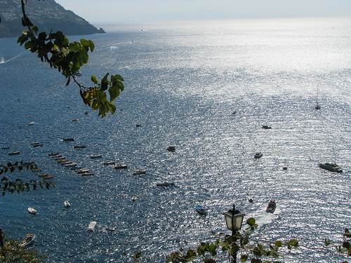 View of the sea at Positano from top of the hill
