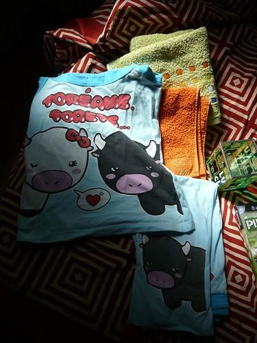 Toallas y pijama de mi mami