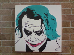 Joker Heath Spray Paint Stencil Face