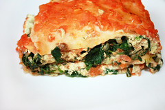 Smoky Vegan Spinach Lasagne