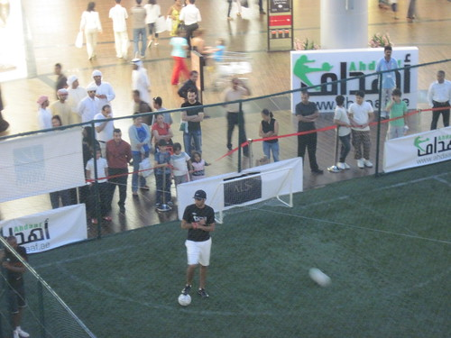 Dubai Mall, Locals Checking Out Soccer