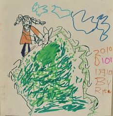 20100101-zozo畫去半屏山爬山