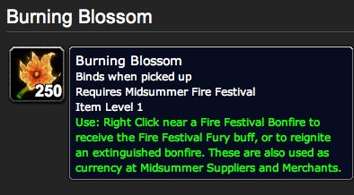 Burning Blossom - Item - World of Warcraft