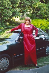 Gown 3c (Melissa451) Tags: cd melissa crossdresser bolerojacket satingown