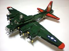 B17G_leftfront (BrickFlight) Tags: lego b17 boeing flyingfortress b17g