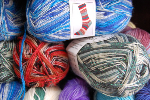 Sparkly sock yarn... new for the holidays