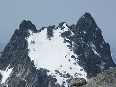 Argonaut Peak. Note the climber descending on the lower left.
