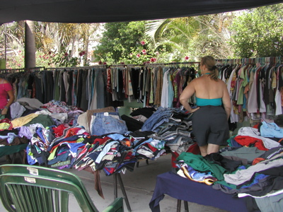 Sylvia shops at La Manzanilla 'Nordstrom's'