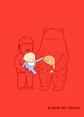 "For ""LOVE.LY"" exhibition (Bubi Au Yeung) Tags: bear red love kids illustration paper children hongkong sketch drawing bubi touch exhibition lovely outline a4 fathers ly happyfathersday labyellow loveandtouch acreativeandcollectiveexhibition"
