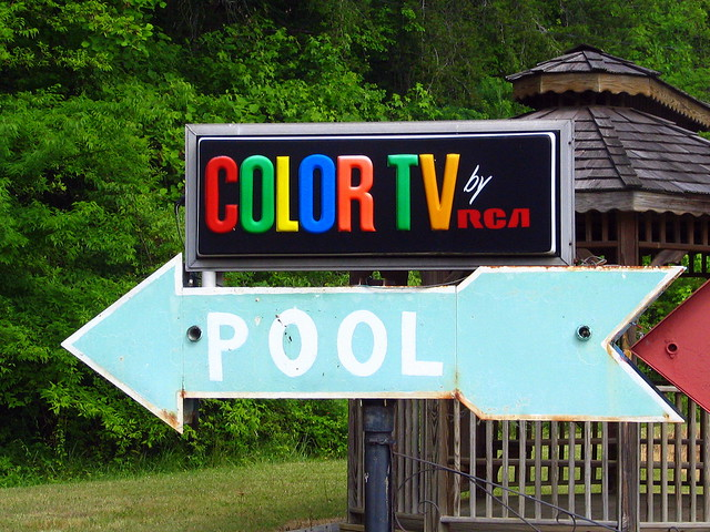 Color TV by RCA & Pool