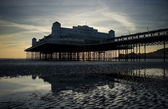 Weston Pier (Joe Dunckley) Tags: uk sunset sea england architecture piers somerset beaches westonsupermare northsomerset bristolchannel westongrandpier