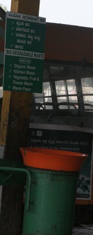 garbage clearance at Majestic Bus Stand