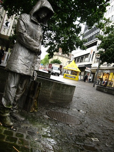 Crying statue in Fribourg, Switzerland