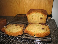 Chocolate Chip Zucchini Bread - slices
