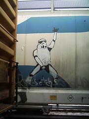 ScotchStormTrooper_sm (Scotch! ) Tags: street urban streetart art train graffiti starwars stencil paint grafitti grafiti graf graffitti stormtrooper scotch graff freight grafite