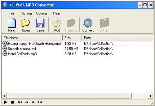 4U WMA MP3 Converter v2.3.8 - Chuyển đổi các định dạng file nhạc