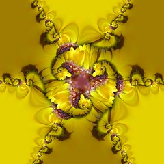 Yellow Flower Hyper Droste