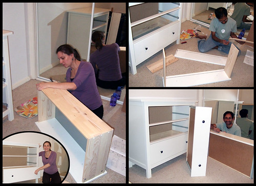 Putting the drawers together