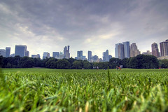 Laying in the grass (ml4300) Tags: city nyc panorama usa newyork green grass skyline clouds landscape centralpark manhattan uppereastside sheepmeadow