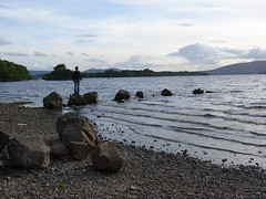 nick water rock ((RJG)) Tags: mountains beach scotland nick lochlomond milarrochy