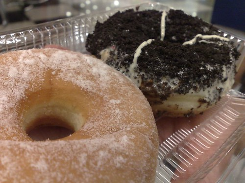 From front: Traditional Donut and Typhoon Oreo
