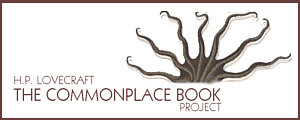 lovecraft commonplace book project