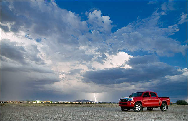 red sky storm electric truck canon 4x4 toyota tacoma lightning soe 30d tokina1224f4 shieldofexcellence diamondclassphotographer flickrdiamond robotography robovercashphotography