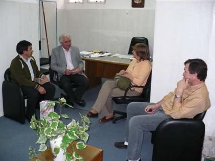 Integrantes de la Comisión de la Fiesta Nacional del Maní con el Sr. Intendente Municipal Jose Estorello