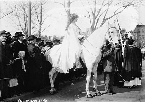 Milholland in the Washington D.C. suffrage parade