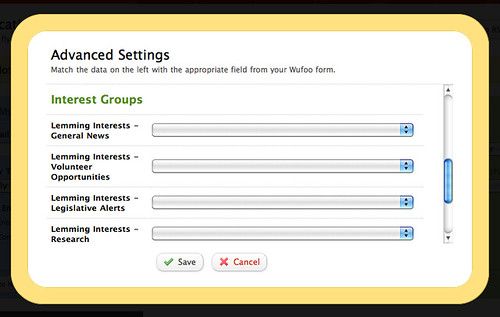 Mail Chimp Interest Groups