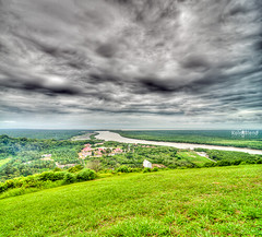 Jugra Hill - which the locals called Cockle Hill (KalerBlind { Im Back for Sexy No JutSu }) Tags: wallpaper sky lighthouse bay scenery dusk hill wide dri hdr bukit jugra anawesomeshot vectorama multimegashot