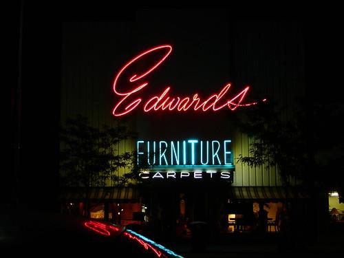 Edwards Furniture, Logan, UT (night)