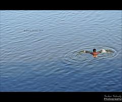 An early morning dip (Sankar Salvady) Tags: india canon tirunelveli shankar tamilnadu sankar indianvillage ruralindia tamirabarani ambasamudram indianvillages canoneos30d   ambai thirunelveli tamilculture rusticbeauty tamiraparani sankarsalvady shankarsalvady sankarasubramanian sankarasalvady salvady