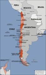 Viejo mapa de las regiones administrativas de ...