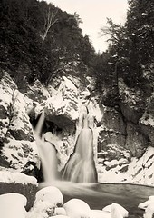 Bash Bish in Winter (davidlepnyc) Tags: winter snow film ice waterfall rocks bashbishfalls realia