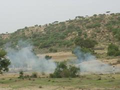 People setting the unwanted Gahh on fire. (gvalasai) Tags: mushroom rain clouds hyderabad mithi thar diplo kaloi tharparkar nagarparkar